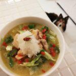 犬ご飯【鶏ムネ肉と野菜のソテー&玄米とコリンキーのスープ】